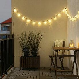 【IKEA(イケア)】 【SNSで話題の映えライト】SOLARVET ソラールヴェート LEDライトチェーン 全24球 屋外用 太陽電池式 ボール ホワイト デコレーション照明になります 光源にLEDを採用 クリスマス イルミネーション