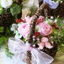 【あす楽&日時指定対応】プリザーブドフラワー ナチュラルバスケット バラ アレンジメント 誕生日 プレゼント 女性 …