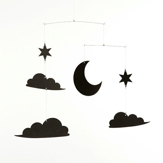 【ポイント5倍】たゆたう モビール 夜空 (night sky)月 星 雲 北欧 宇宙 mobile ギフト プレゼント クリスマス