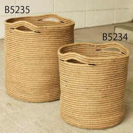 【ポイント5倍】【観葉植物の鉢】ステム-stem Rib Basket/ジュートロープ・リブバスケット-取手付(大) 36.5 x 38cm 懸崖10号鉢用 ※メーカーより直接お届けするため、お買上げ合計金額にかかわらず別途送料を設定しております。 【代引・ラッピング・同梱不可】