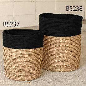 【ポイント5倍】【観葉植物の鉢】ステム-stem Rib Basket/ジュートロープ・リブバスケット-2トーン 36.5 x 40.5cm 懸崖10号鉢用 ※メーカーより直接お届けするため、お買上げ合計金額にかかわらず別途送料を設定しております。【代引・ラッピング・同梱不可】