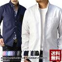 シャツ メンズ 長袖 ボタンダウン オックスフォード カジュアル ビジネス 白シャツ 黒シャツ 無地 トップス【B3G】【…