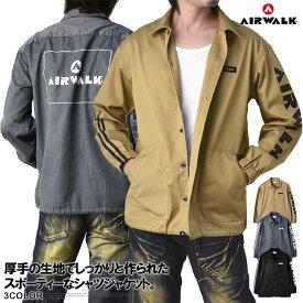 AIRWALK エアウォーク ジャケット メンズ オーバーシャツ ゆったり カバーオール バックプリント コーチジャケット トップス【A3C】【パケ1】