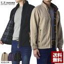 レノマ U.Prenoma フリースジャケット メンズ コーデュロイ フレンチ ブルゾン 裏起毛 チェック柄裏地 正規品【B5Y】