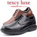 キャッシュレス決済5%還元対象TEXCY LUXE アシックス商事 ビジネスシーンもカジュアルシーンも 外羽根式プレーントゥ ラウンド texcy luxe Biz Walk TU7798【送料無料対象外地域あり】