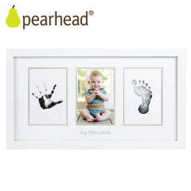 ペアヘッド ベビープリント・フォトフレーム ホワイト /pearhead 【送料無料 在庫有】【あす楽】【海外NG】