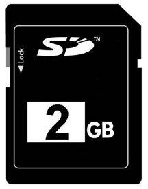 ☆バルク品☆SDカード 2GB プラケース付き 【4個までメール便OK】【返品交換不可】
