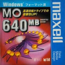 【生産終了品・在庫限り】マクセル 3.5インチ MOディスク 640MB 1枚 Windowsフォーマット済み MA-M640 WIN B1P