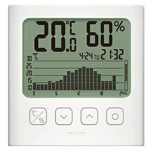 *受発注* タニタ グラフ付きデジタル温湿度計 ホワイト TT-580-WH 1個