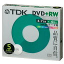 TDK データ用 DVD+RW 4.7GB 4倍速対応 5枚 5mmスリムケース入り ホワイトノーマルタイプ インクジェットプリンタ対応 …