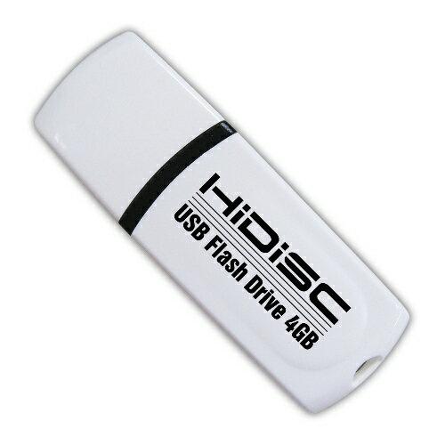 HIDISC USB 2.0 フラッシュドライブ 4GB 白 キャップ式 HDUF102C4G2 【メール便対象商品合計2個までOK】