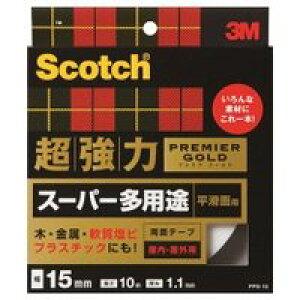 *受発注*3M スコッチ 超強力両面テープ プレミアゴールド 15mm×10m1巻
