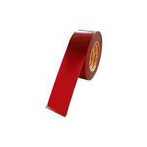 *受発注*ダイヤテックス パイオラン ラインテープ 50mm幅 赤 1巻