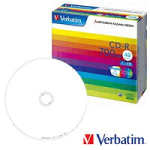 【お取り寄せ】 Verbatim データ用 CD-R 700MB 48倍速 10枚 ワイドプリンタブル**