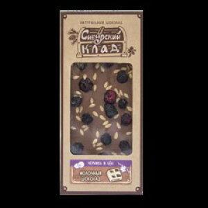 シベリアチョコレート ビルベリーと亜麻仁入りミルクチョコレート 30g