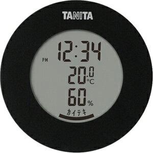 *受発注* タニタ デジタル温湿度計 ブラック TT-585BK 1個