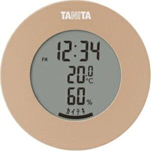 *受発注* タニタ デジタル温湿度計 ライトブラウン TT-585BR 1個