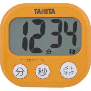 *受発注*タニタ でか見えタイマー アプリコットオレンジ TD-384OR 1個