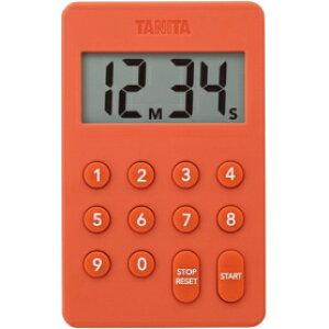 *受発注*タニタ デジタルタイマー100分計 オレンジ TD-415-OR 1個