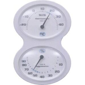 *受発注* タニタ 温湿度計 ホワイト TT-509-WH 1個