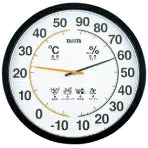 *受発注*タニタ 温湿度計 壁掛け用 ブラック TT-554BK 1個