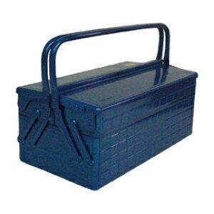 *受発注* TRUSCO 2段式ツールボックス(トレー付) ブルー 412×220×289mm GL-410-B 1個