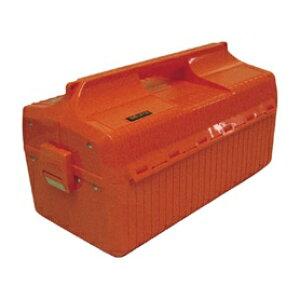 *受発注*TRUSCO 両開きスライド式中皿付ツールボックス 440×232×230mm オレンジ GS-410 O 1個