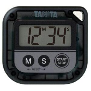 *受発注*タニタ デジタルタイマー 丸洗いタイマー 100分計 ブラック TD-376N-BK 1個