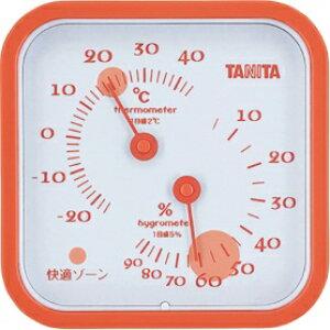 *受発注*タニタ アナログ温湿度計 オレンジ TT-557OR 1個