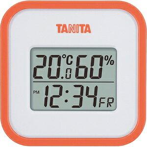 *受発注*タニタ デジタル温湿度計 オレンジ TT-558OR 1個