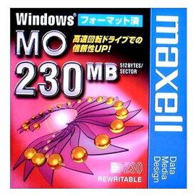【生産終了品・在庫限り】マクセル 3.5インチ MOディスク 230MB 1枚 Windowsフォーマット済み MA-M230 WIN B1P