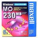 【生産終了品・在庫限り】マクセル 3.5インチ MOディスク 230MB 5枚 Windowsフォーマット済み MA-M230 WIN B5P