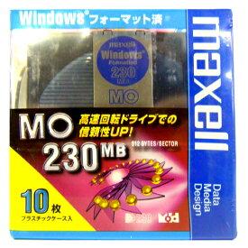 【訳アリ】マクセル 3.5インチ MOディスク 230MB 10枚 Windowsフォーマット済み MA-M230 WIN B10P