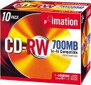 imation データ用 CD-RW 1-4倍速対応 700MB 10mmジュエルケース入り 10枚パック メーカーロゴレーベル シルバー CDRW80AX10...