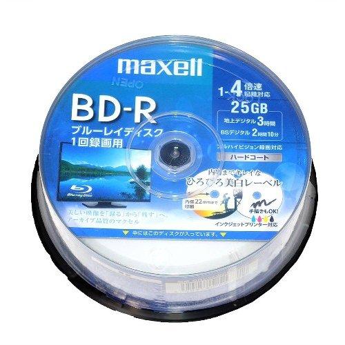 【お取り寄せ商品】maxell 録画用 BD-R 25GB 1-4倍速対応 CPRM対応 30枚 スピンドルケース ハードコート ホワイトワイドプリンタブル インクジェットプリンター対応 BRV25WPE.30SP