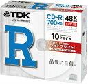 【日本製】TDK データ用CD-R 700MB 48倍速 10枚 5mmスリムケース入り ホワイトワイドプリンタブル インクジェットプリンタ対応 CD-R80P...