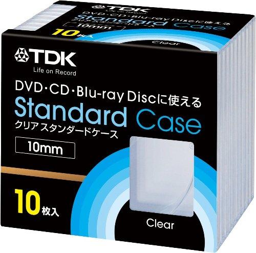 TDK DVD/CD用 10mmクリアケース 10枚入り CASE-PCC10A