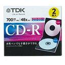 TDK データ用CD-R 700MB 48倍速対応 2枚 ブルー/ピンク スリムケース入り