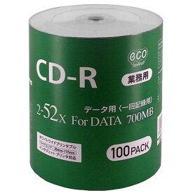 <新製品>【業務用パック600枚セット☆送料無料】CD-R for DATA 700MB 1回記録 データ用 100枚シュリンクecoパック 2-52倍速対応 ホワイトワイドプリンタブル CR80GP100_BULK