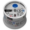 <TY技術を引き継いだ国産同等品質>【TYコードシリーズ】HIDISC CD-R データ用 48倍速 700MB ホワイトワイドプリンタブル スピンドルケース ...