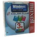【生産終了品】Maxell3.5型 2HDフロッピーディスク Windowsフォーマット用 3枚 カラーミックス クリックインケース MF…