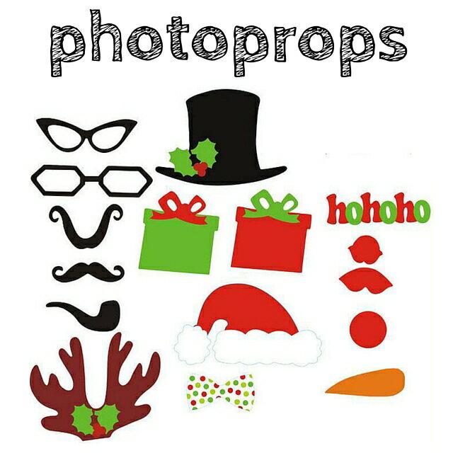フォトプロップス オリジナル 17点セット(Photo Booth Prop) 結婚式 二次会 誕生日会 パーティーで大活躍 ウエディンググッズ パーティーグッズ 出産祝い 1歳 2歳 3歳 寝相アート クリスマス会