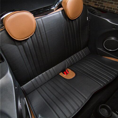 FIAT500/ABARTH(フィアット/アバルト)L字シート(ブラック)【CABANA】