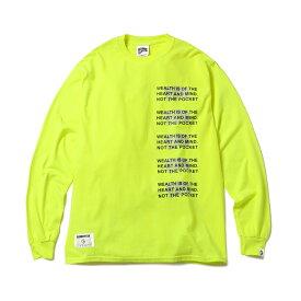 BILLIONAIRE BOYS CLUB / BBCJP191T006 MANTRA L/S Tシャツ (SAFETY GREEN) 〜BBC ビリオネアボーイズクラブ マントラ ロンT 長袖Tシャツ セーフティーグリーン ネオンカラー〜