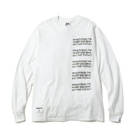 BILLIONAIRE BOYS CLUB / BBCJP191T006 MANTRA L/S Tシャツ (WHITE) 〜BBC ビリオネアボーイズクラブ マントラ ロンT 長袖Tシャツ セーフティーグリーン ネオンカラー ホワイト〜