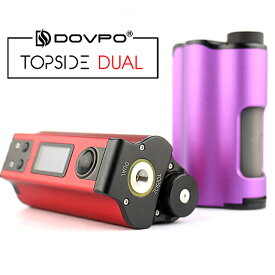 DOVPO Topside Dual Box MOD 電子タバコ vape ドブポ トップサイド デュアル BF ボトムフィーダー スコンカー テクニカル BOX MOD テクスコ トップフィル 18650 デュアルバッテリー