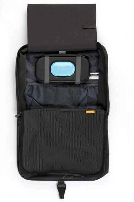 正規品 brica(ブリカ) 収納ポケット付キックマット 車 シートカバー 車 収納 車 ポケット キックマット キックガード ドリンクホルダー