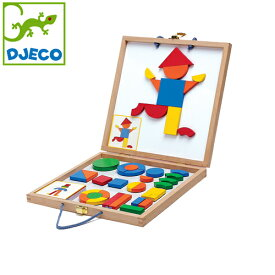 正規品 DJECO(ジェコ) [ジオフォーム セット ボックス] パズル 幼児 マグネット おもちゃ ホワイトボード