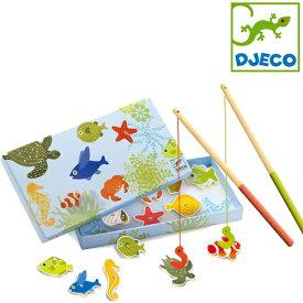 正規品 DJECO(ジェコ) [トロピカルフィッシングゲーム] おもちゃ 釣り マグネット フィッシングゲーム 木製玩具 木のおもちゃ