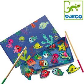 正規品 DJECO(ジェコ) [カラーフィッシングゲーム] おもちゃ 釣り マグネット フィッシングゲーム 木製玩具 木のおもちゃ